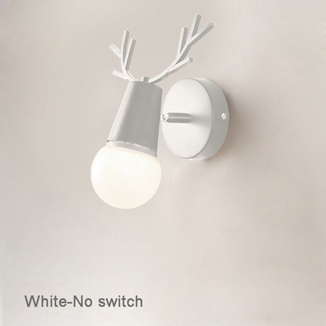 Nordic modern LED wall lamp black/white small antlers LED wall lamp