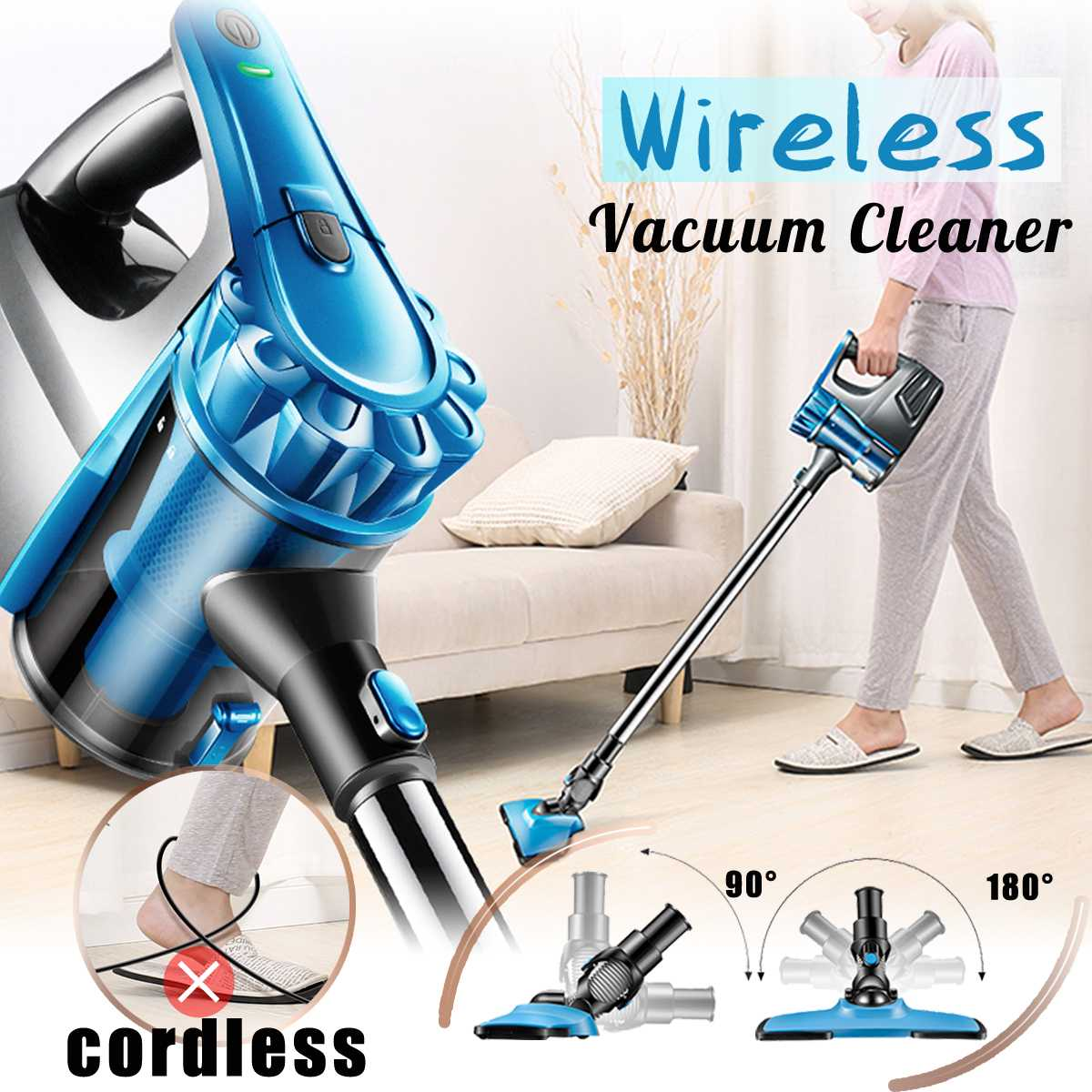 2 in 1 100-240V 130W Corded Handheld Home &Commercial Vacuum Cleaner