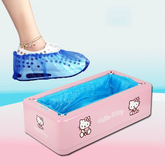 Cute Hello Kitty Automatic Shoe Cover Machine One-time Home