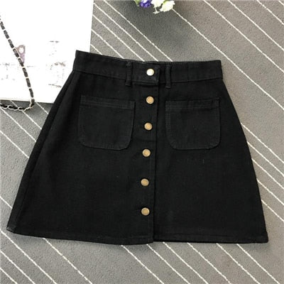 Spring Summer Women Short A-line Buttom Skirts