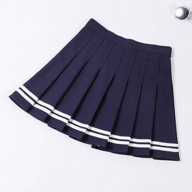 2019 high waist pleated skirts Kawaii Harajuku Skirts women