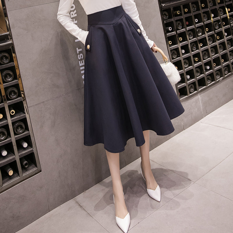 2019 Spring Skirts Womens High Waist A Line