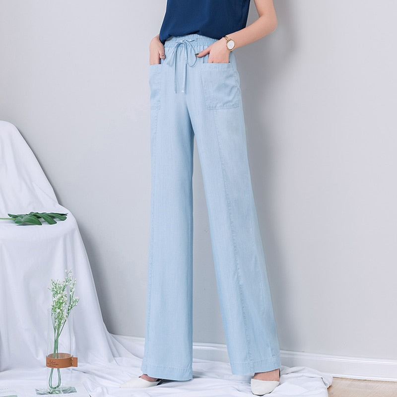 High Waist Jeans Woman 2019 Summer Thin Denim Crop