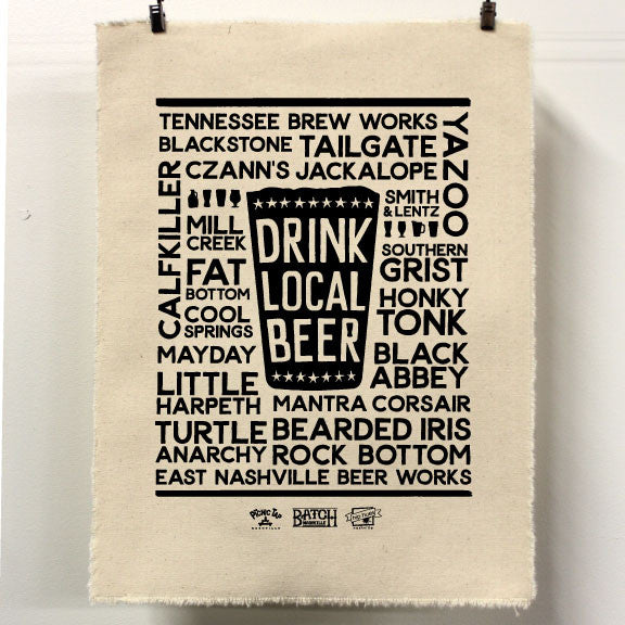 Drink Local Beer Screen Print Event with Hip Hues on April 23