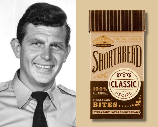 Andy Griffith with Willa's Shortbread