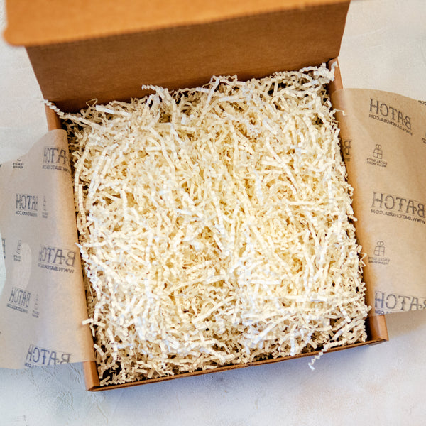 Open Box of Ivory Crinkle