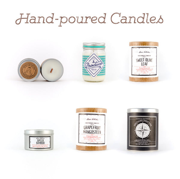 Hand poured candles are a great teacher gift