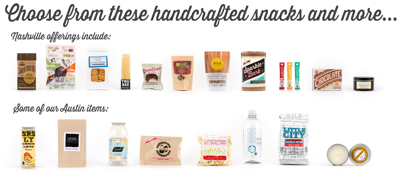Choose from these handcrafted snacks and more...