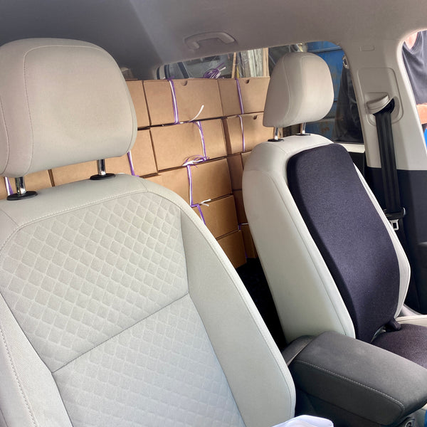 Back Seat Loaded with Packages