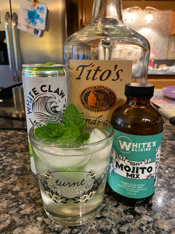 White's Elixir Mojito Mix from Batch with White Claw and Tito's Vodka