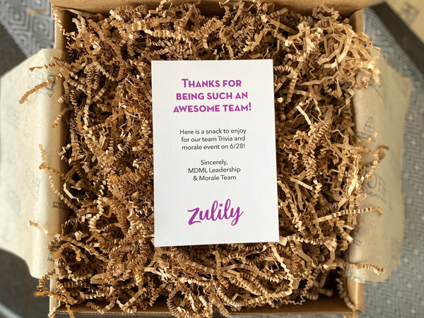 open gift box with Zulily insert