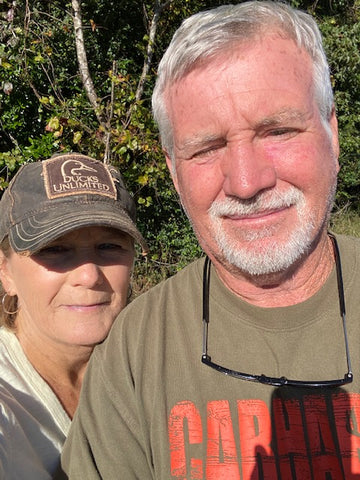 Kay Holseberg of Molly & Me Pecans in Holly Hill, South Carolina with husband