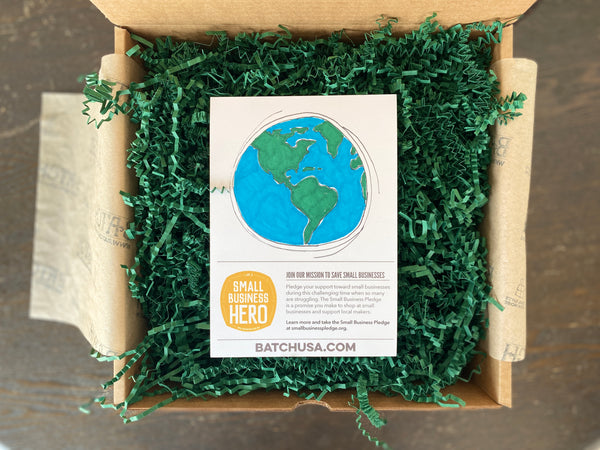 Open Batch Box with Green Crinkle and Earth insert