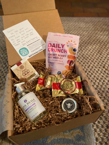 True Life: I Received a Batch Care Package | My care package that features Thistle Farms, Daily Crunch, TruBee and more
