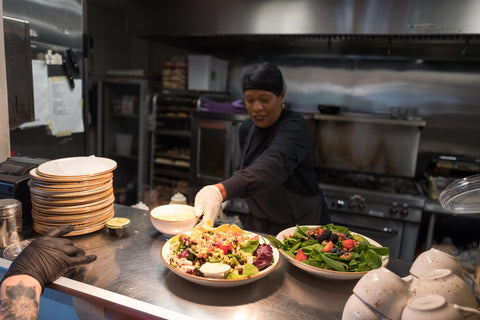 Marcia Willis in the kitchen at The Cafe at Thistle Farms in Nashville