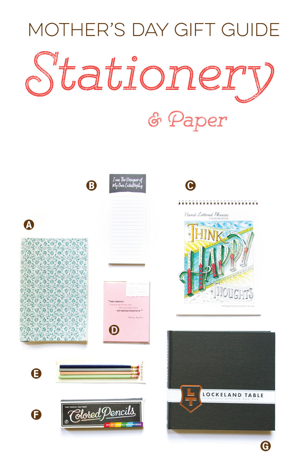 Mother's Day Gift Guide - Stationery and paper