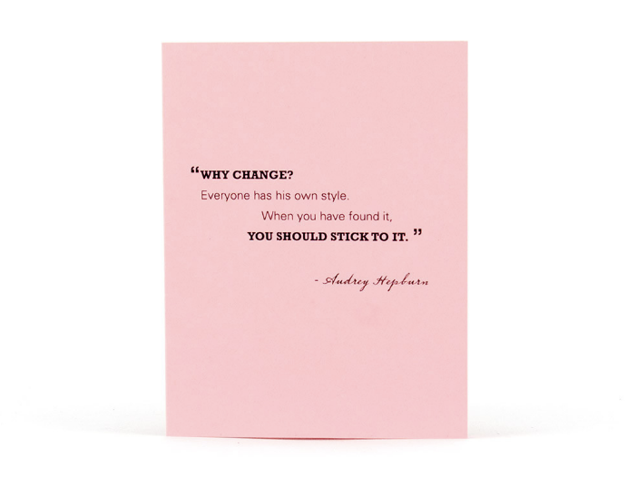 Tiramisu Paperie Audrey Hepburn Quote Notecard Set | Made in Nashville, TN