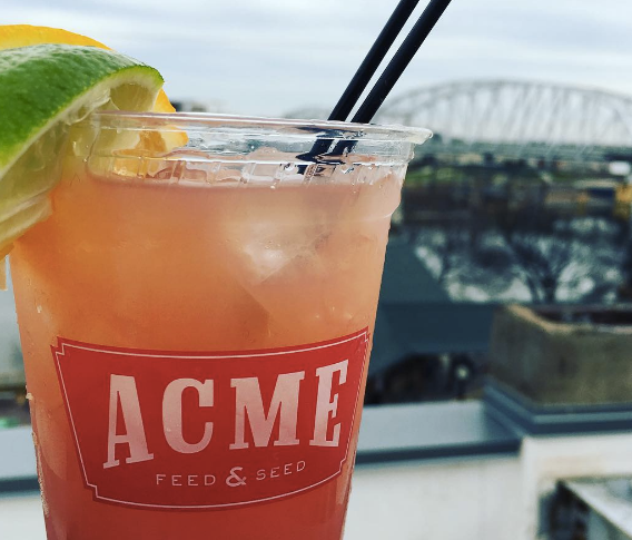 Acme Feed and Seed | Downtown Nashville patio for summer drinks