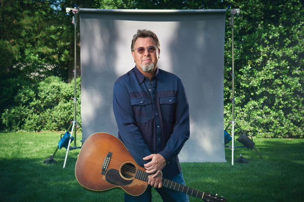 Vince Gill in front of White Backdrop