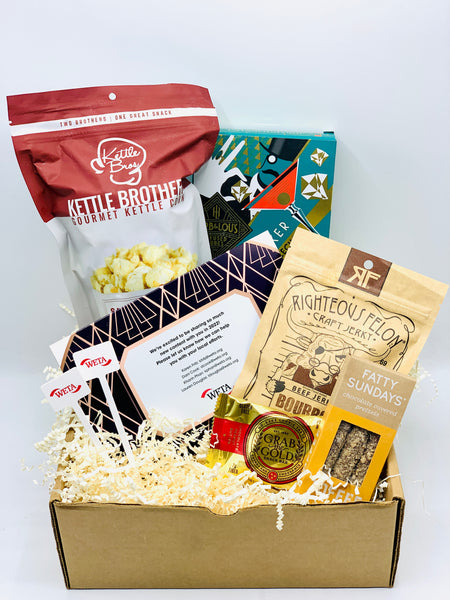 WETA Gift box with Ivory Crinkle and Local Products