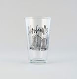 Nashville Skyline Pint Glass in the Bloody Mary Batch gift box