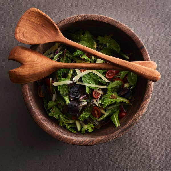Billet+Blade Wooden Salad Servers