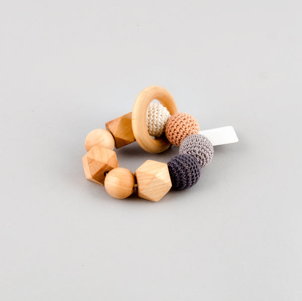 Oh Just Dandy Crochet and Wood Teething Ring
