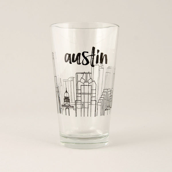 Austin Skyline Pint Glass