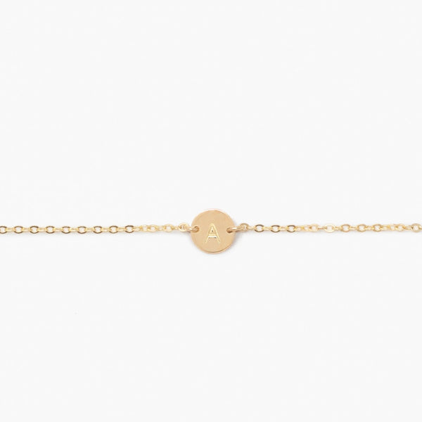 ABLE Mini Tag Bracelet Gold
