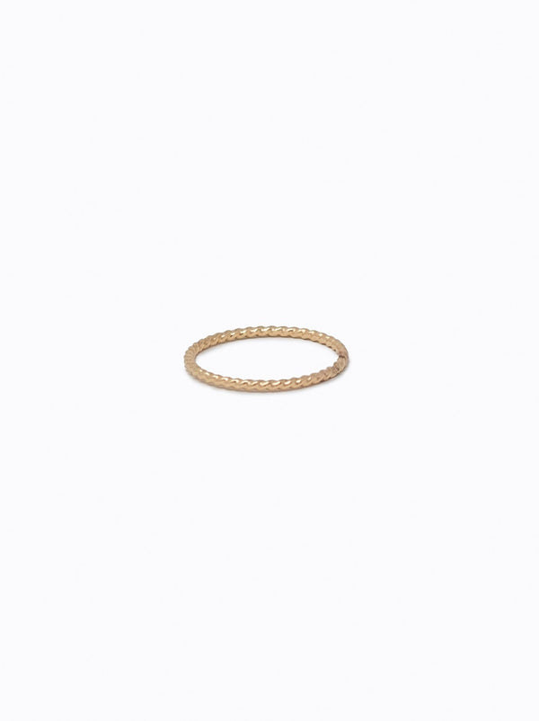 ABLE Twisted Stacking Ring - Gold