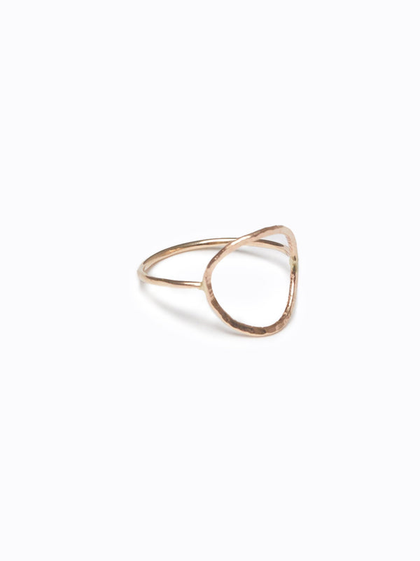 ABLE Hammered Circle Ring