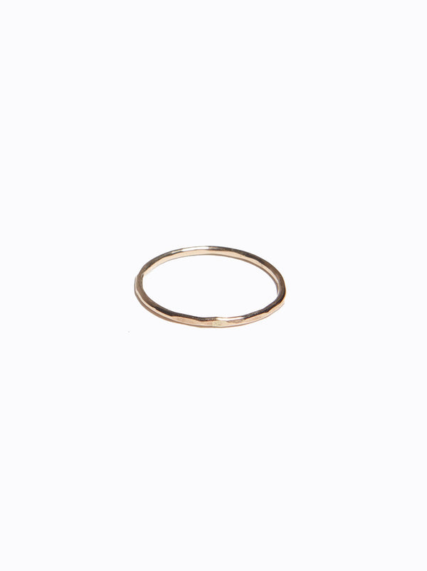 ABLE Hammered Stacking Thin Ring - Gold
