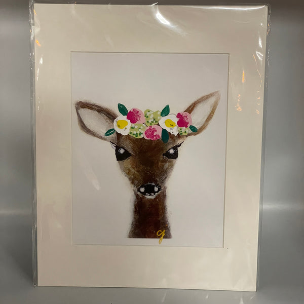Claire Jordan Flower Crown Animal Prints (8x10)