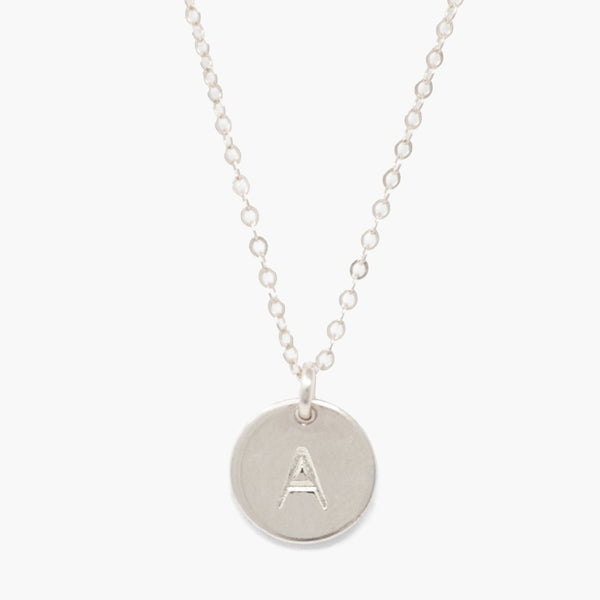 ABLE Mini Tag Necklace - Silver
