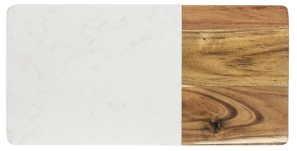 Acacia and White Marble Cheeseboard