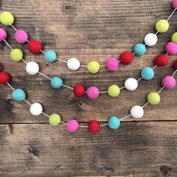 Sweet Everyday Musings Felt Ball 6' Garland