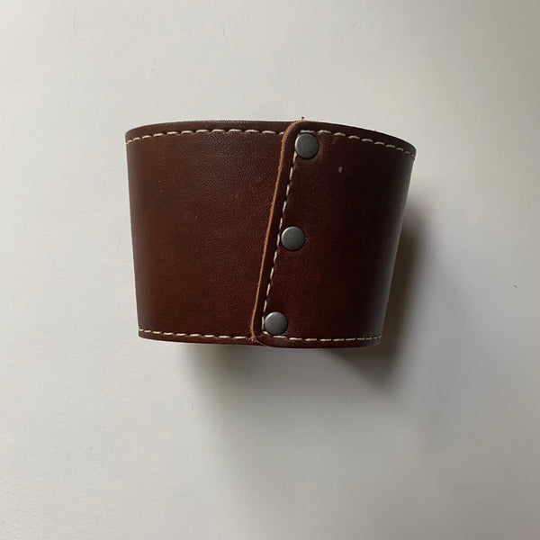 Buckle and Hide Leather Coffee Klatch