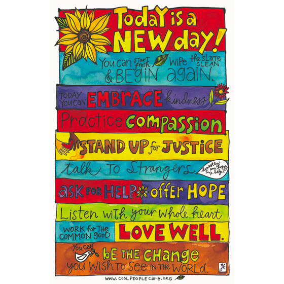Cool People Care New Day Poster