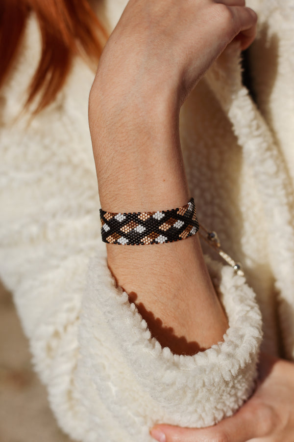 PEARL MIYUKI - Bracelet PATCHWORK - collection éloquence