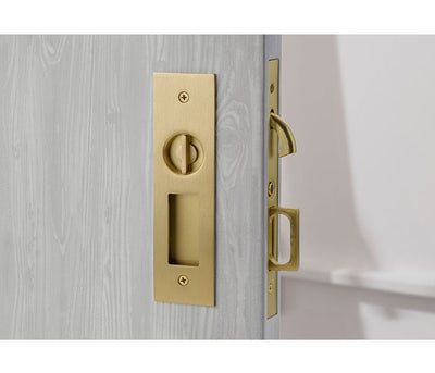 Narrow Modern Privacy Pocket Door Set