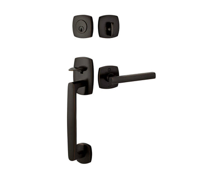 Urban Modern Entry Set with Freestone Lever