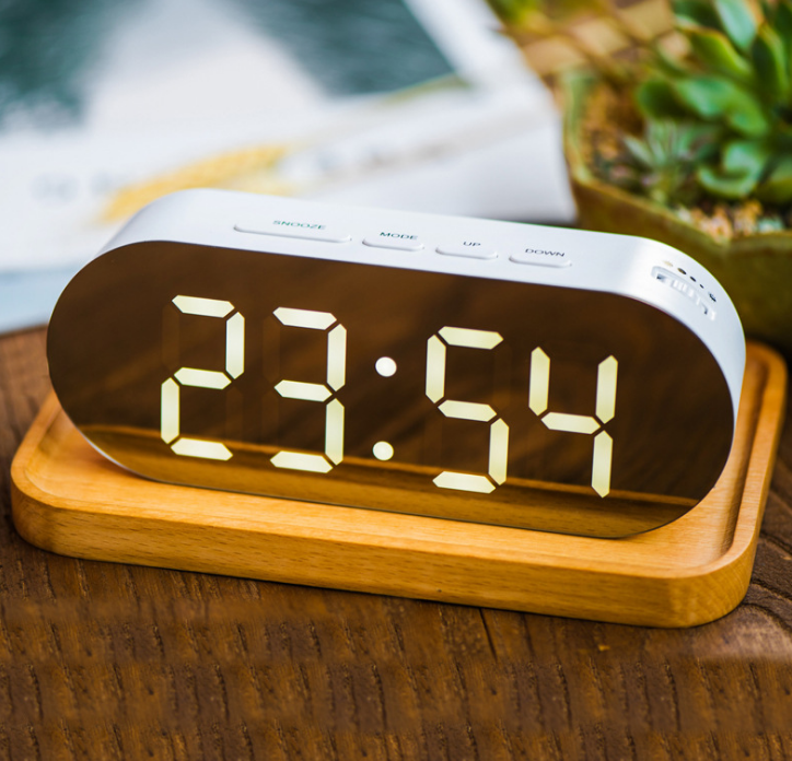 LED Alarm Clock w/ Thermostat & USB Port