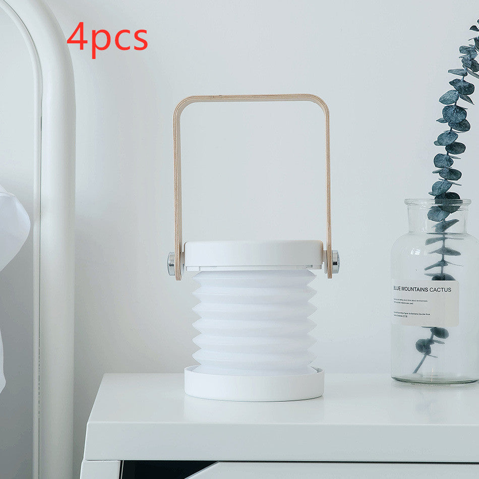 Table USB Charging Lamp Led Light Small Portable Lantern For Bedroom