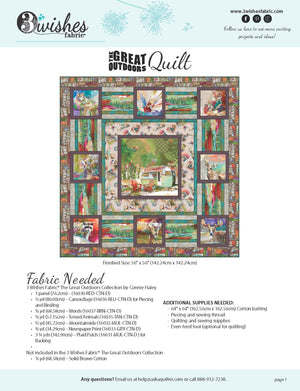 The Great Outdoors Quilt-- FREE PATTERN