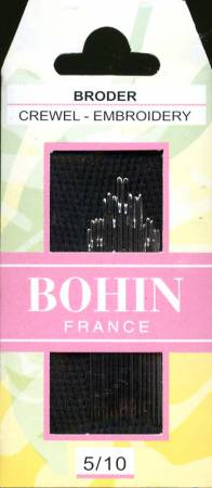Bohin Embroidery / Crewel Needles Assorted Sizes Sizes 5/10 # 00769