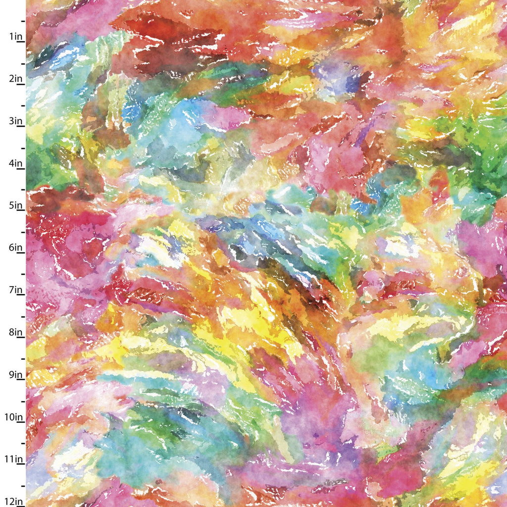 Quilting Fabric SWIRL from SIP AND SNIP Collection by Connie Haley from 3 Wishes, 14908-MULTI