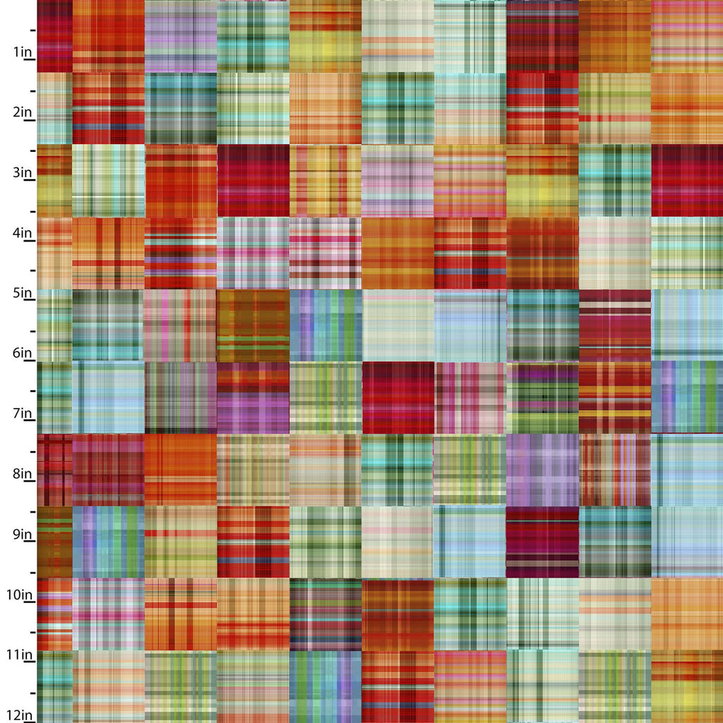 Plaid Patch Quilting Fabric from The Great Outdoors Collection by Connie Haley from 3 Wishes, 16031-MUL-CTN-D