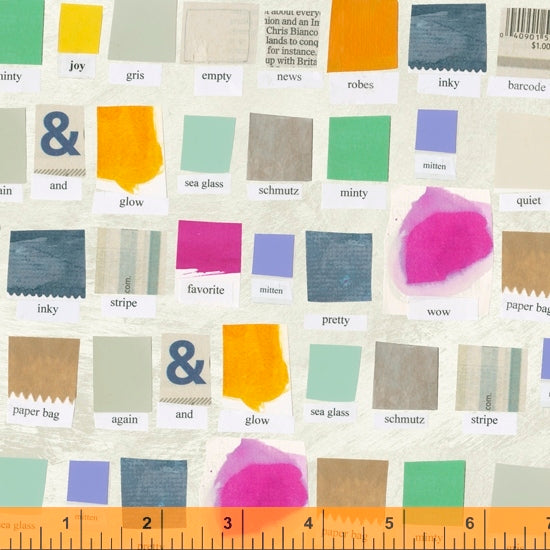 Quilting Fabric SWATCH from Color Theory Collection by Carrie Bloomston for Windham Fabrics, 39698AD-1