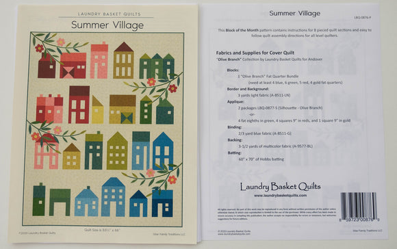 Summer Village Pattern by Edyta Sitar from Laundry Basket Quilts LBQ-0876-P