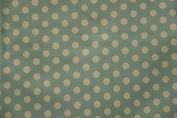 Fabric from Tilda, DOTs Collection, Medium Dots Teal 130001